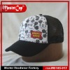 Polyester and Nylon Mesh Baby Cap with Printing and Woven Label