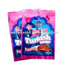 2012 hot three side seal plastic bag for food/ chocolate bag