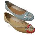 Kristal dekorasyon bayan pu 100% otantik ayakkabı