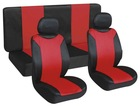 2014 China new design high quality red and black PU car seat cover