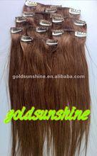 Hot sale silky straight malaysian cheap 100% human hair clip in hair extension