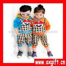 Korea Style Cartoon Man Sport Autumn and Winter Children Clothing set 4-15Y