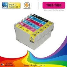 Compatible ink cartridge T0801 T0807 Stylus Photo R265 R285 PX710W