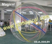 Sport game inflatable water roller ball