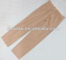 2012 100% cotton men's pre-shrunk chino pants