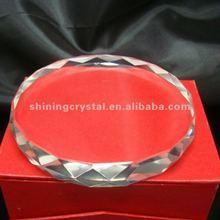 high-end cut round crystal coaster set