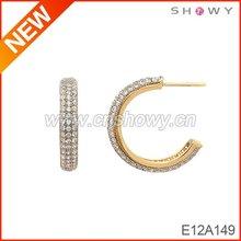 fashionable design gold piercing ear studs