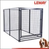 Welded square tube & wire mesh panel stainless dog cage in 5x10x6 feet