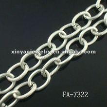 Fashion Matte Nickle Plated Aluminum Chain