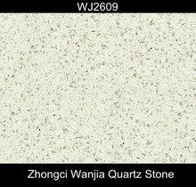 Quartz For crystal white glass floor tile with high hardness-WJ2609