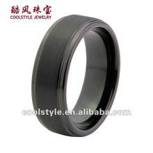 Tungsten carbide ring, black tungsten ring, popular tungsten ring