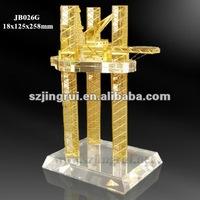 Colorful design k9 crystal design oil rig model