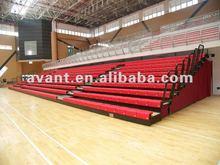 Arena bleacher sport facility telescopic tribune telescopic folding plastic seating flex grandstand. portable bleacher