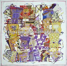 twill silk square scarf promotion price