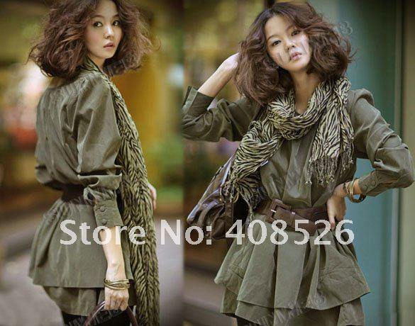 Hot Korean Magazine Style Women's Loose autumn/spring Dress With Belt