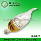 3w e27A18 socket candle led bulb 85~265vac silver housing lamp,3w solar led bulb,cabinet light