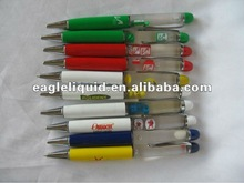 acrylic promotional gift 140mm plastic liquid dispensing pen
