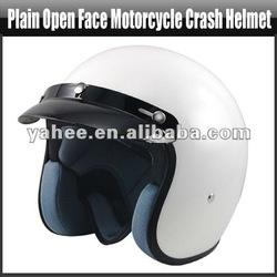 Plain Open Face Motorcycle Motorbike Scooter Moped City Crash Helmet, YFT370A