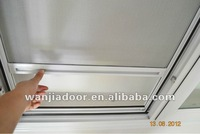 mosquito rolling net window/metal roll up windows/foshan wanjia brand