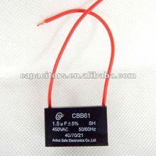CBB61 ceiling fan capacitor wiring 1.5uF