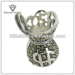 SC2842 10.36G Baoyuan silver money wallet