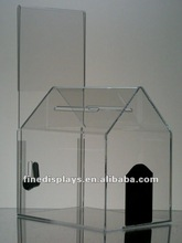 Locking Acrylic Dog House-Style Donation Box (AD-A-112)