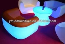 Poly Resin Furniture / Led Illuminated Furniture Bar Table