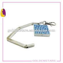2013 Novelty item square foldable handbag hanger/hook/holder,good as promotional gifts