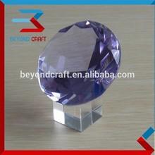 elegant purple crystal diamond antique decorative show piece