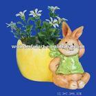 rabbit ceramic miniature flower pots