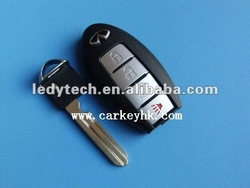 New Style Infiniti smart 3+1 button remote control key shell &car key &remote key blank