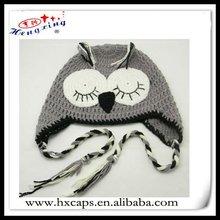 Enfants animaux modèles de tricot chapeau avec earflap