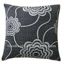 Jacquard cushion in flower design