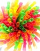 colored Plastic drinking straws: straight &amp; flexible