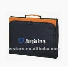 Black/orange promotional conference bags, Polyester