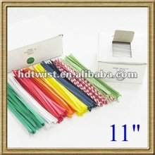 paper/plastic twist ties for dry cleaning supplies/bag sealing