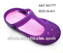 2013 Lady jelly eva pvc sandal garden shoes