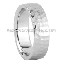 2012 HMC Newest Mens Nature Color Design Wedding Band Titanium Ring For Men Big Rings With Hands Hammered Styles