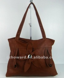 solid color tote handbags no brand fashion bags in guangzhou