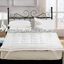 hotel double layer duck down mattress topper/quilted mattress pad/waterproof mattress cover