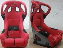 One lot/2pcs Bucket,inclusion feeling,FLANNELETTE cloth+PVC red/black sports racing car seat RAIA03