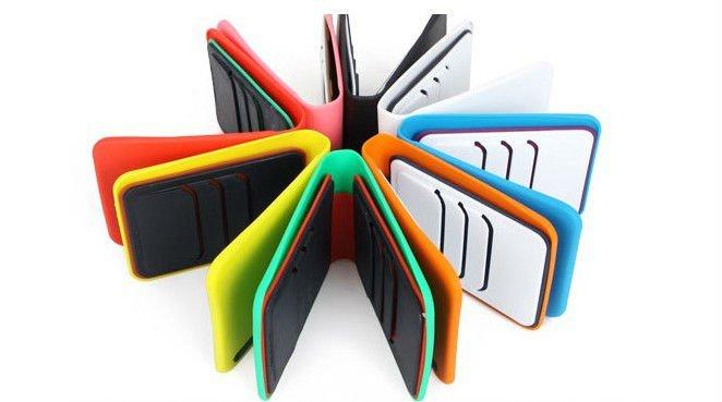 Silicone portafoglio, carta di credito titolare di silicone, sacchetto di silicone