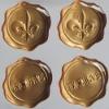 Brushed Gold Foil Domed Labels