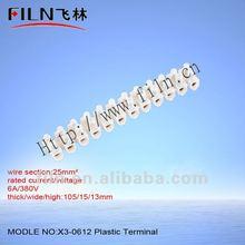 screw connector 12v Plastic terminal block X3-0612