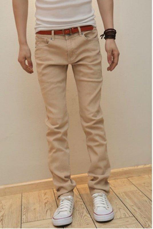 casual new design cotton colored denim jeans for men