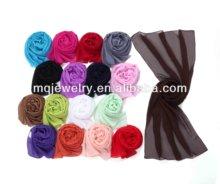 2012 new fashion solid color chiffon scarf