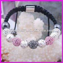 ALBB0030 Wow!!! Real shamballa bracelet Girl Angel wing charm bracelet