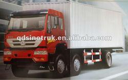 China heavy truck HUANGHE 6X2 mini cargo van truck