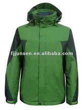 2012 latest fashion cheap men ski jacket with detachable hood