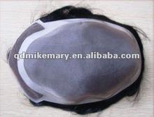 Thin PU injection men's toupee hairpiece, India/Chinese/Brazilian/Peruvian Virgin